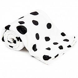 4Home deka Soft Dreams Puntíky Dalmatin černobílá, 150 x 200 cm