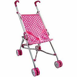 Bino Golfový kočárek pro panenky, růžová