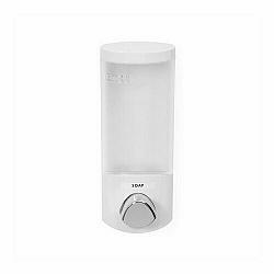 Dávkovač Compactor Uno mýdla / šampónu na zeď, bílý plast, 360 ml, RAN6013