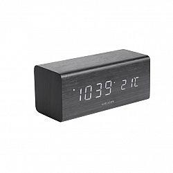 Karlsson 5652BK Designové LED stolní hodiny s budíkem, 16 x 7 cm